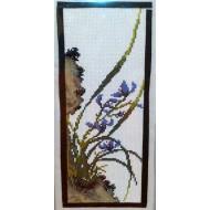 CARRE D'ART Orchidée bleu***18  X 40 CM