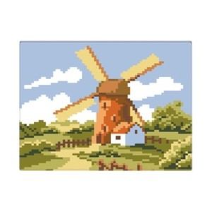 "CARRES D'ART ""MOULIN"" ***22  X 22 CM"