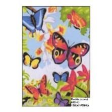 Papillons Strass  FOND TOILE DECOREE SUR CADRE BOIS 40 X 30 CM
