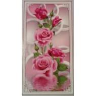 ROSES GEANTES  Strass sur toile décorée 160 x 70 cm