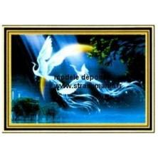 Oiseaux Lyre tout strass sur toile roulée 26 *36 cm