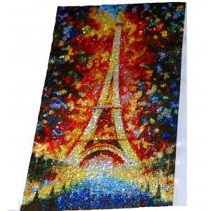 """""""Tour Eiffel Paris """" 40 X 65 CM TOUT STRASS"""