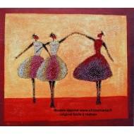 """"""" Les 3 Danseuses sur toile """" 53 X 47 CM STOCK LIMITE"""