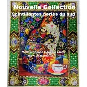 CHAT 40X50 cm , Collection Scintillante 2019