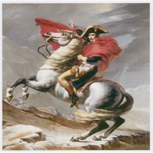 """Napoléon sur son cheval sur Toile "" 80 X 94 CM"