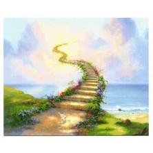 """""""Escalier du Bonheur """" 77 X 99 CM TOUT STRASS"""
