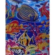 POISSONS Strass sur Toile décorée 40 x 50 cm SUR CADRE BOIS