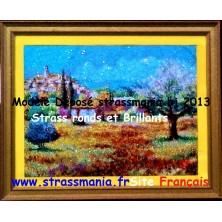 """Village et Olivier en Provence "" TOUT STRASS"