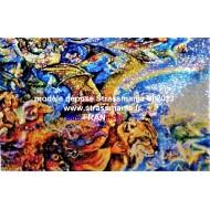 """MYSTIC """" Un autre Monde """"tout strass sur toile roulée 95 *65 cm"""