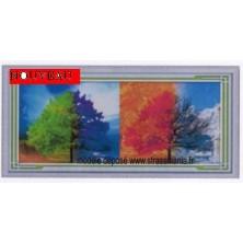 4 saisons tout strass sur toile roulée 130 x 60  cm