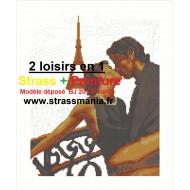 AMOUREUX à PARIS Strass et Peinture Numéro