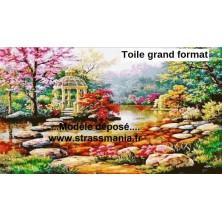 JARDIN JAPONAIS 110 x 780cm sur toile roulée